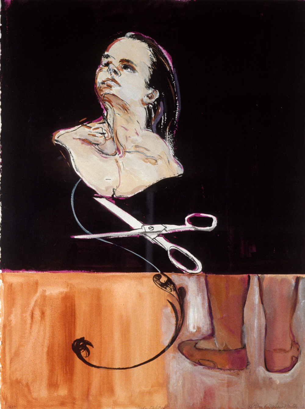 "Body Politic , 1993, gouache on paper, 30"" x 22"""