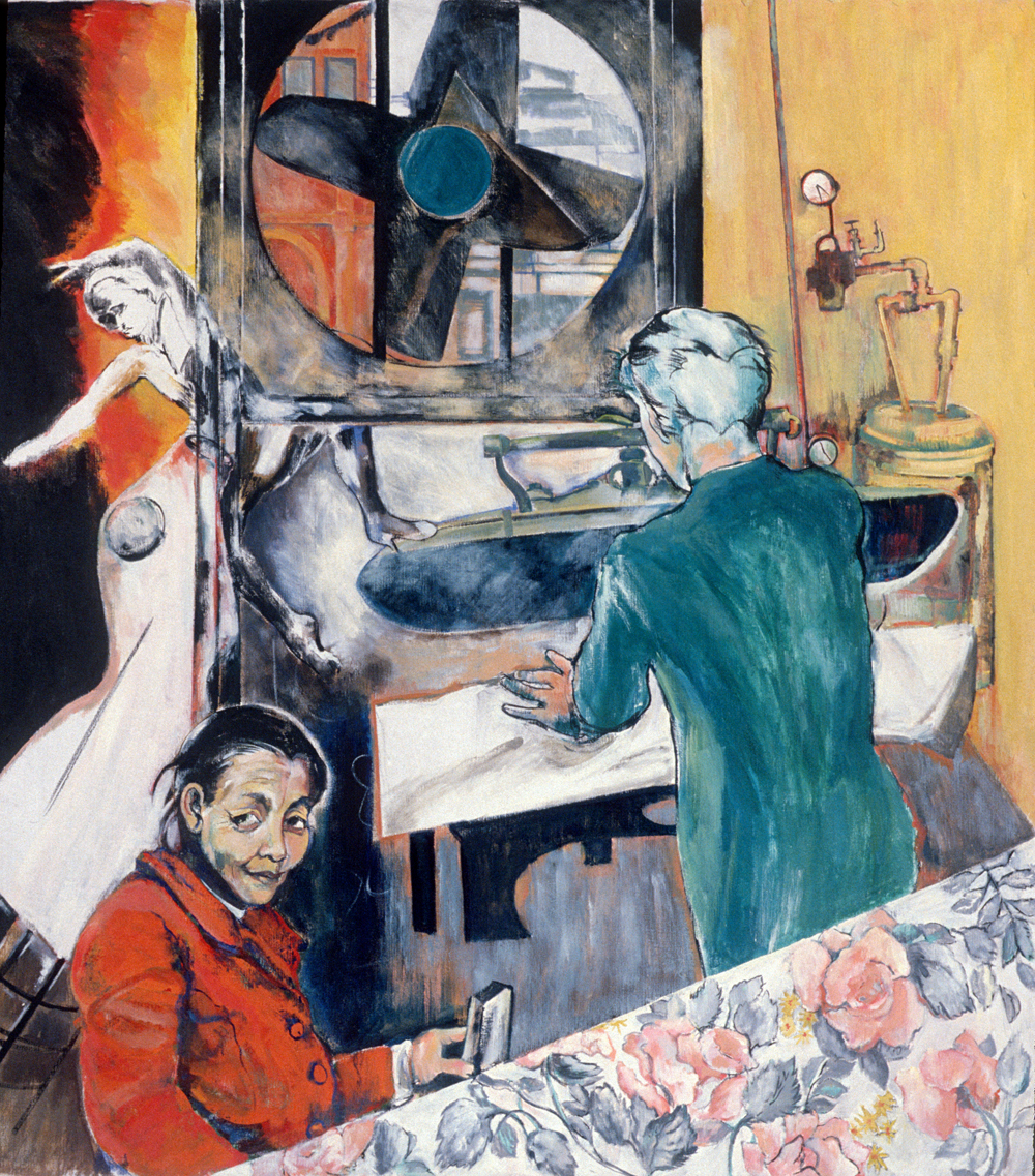 "Continuum , 1989, oil paint on linen, 69"" x 62"""