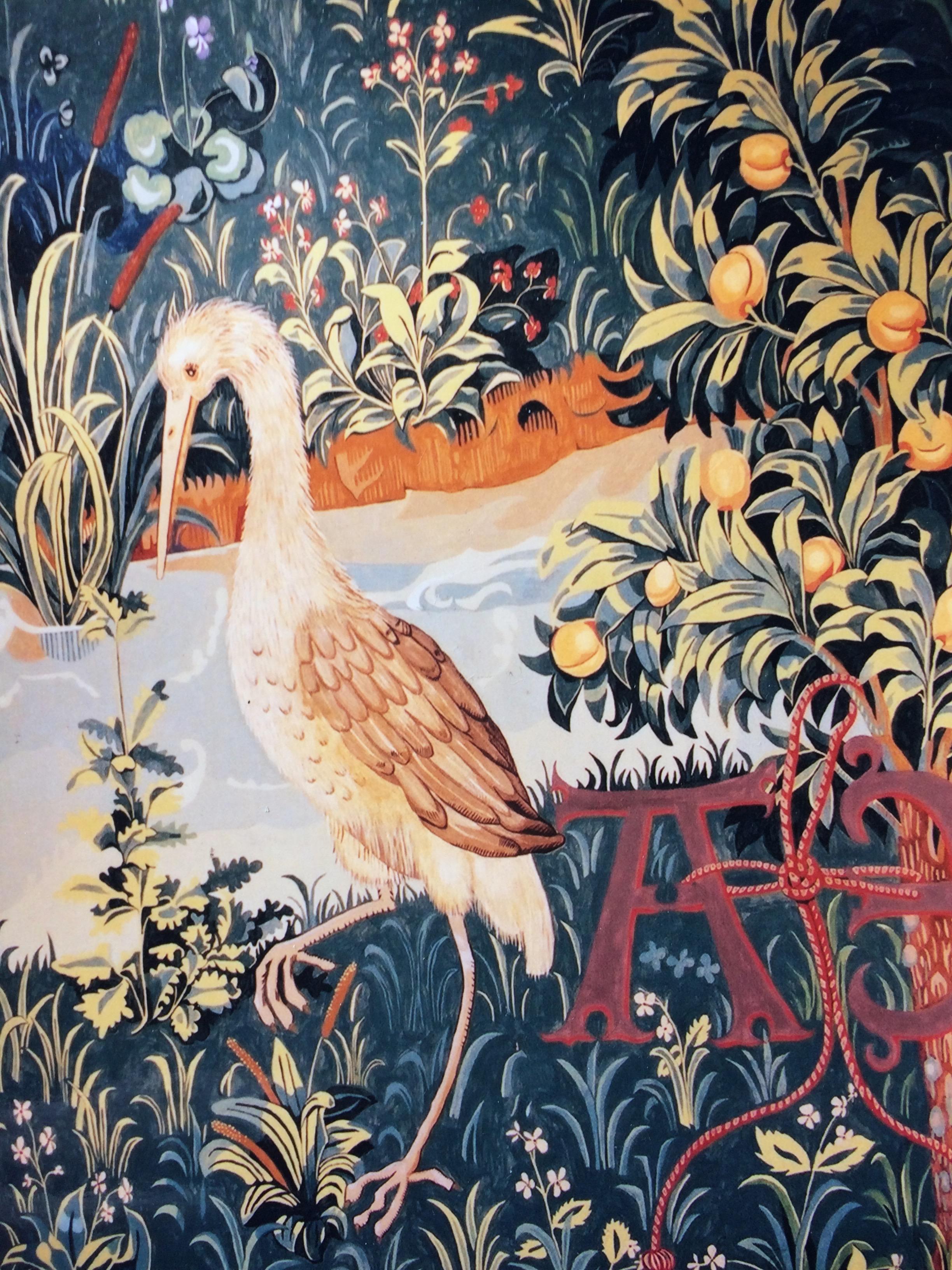 Unicorn Tapestry murals.