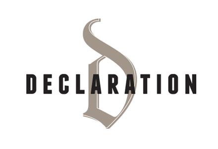 Restaurant identity for Declaration in Washington DC