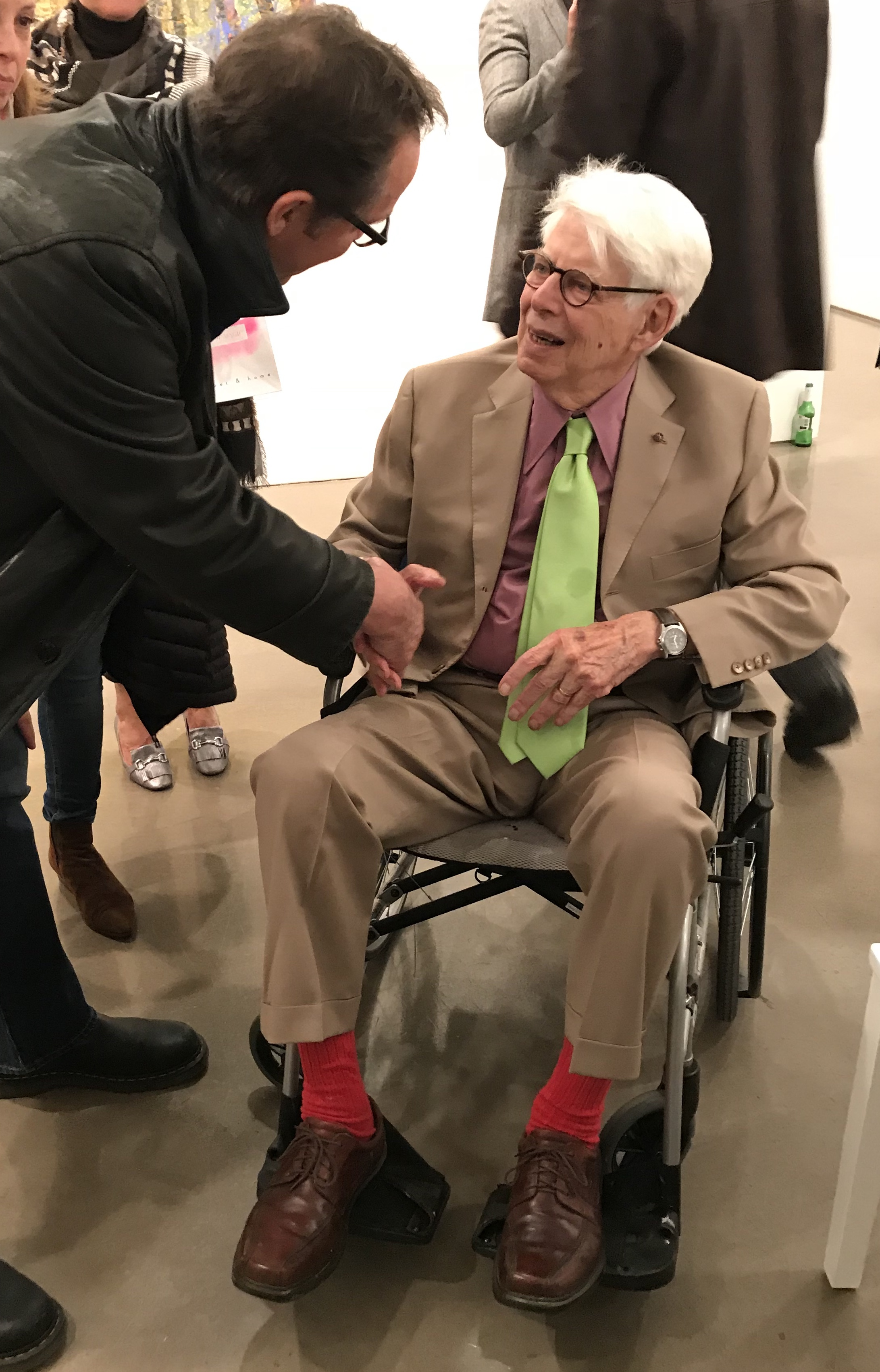 Rick meets Wolf Kahn at The Miles McEnery Gallery November 16, 2017