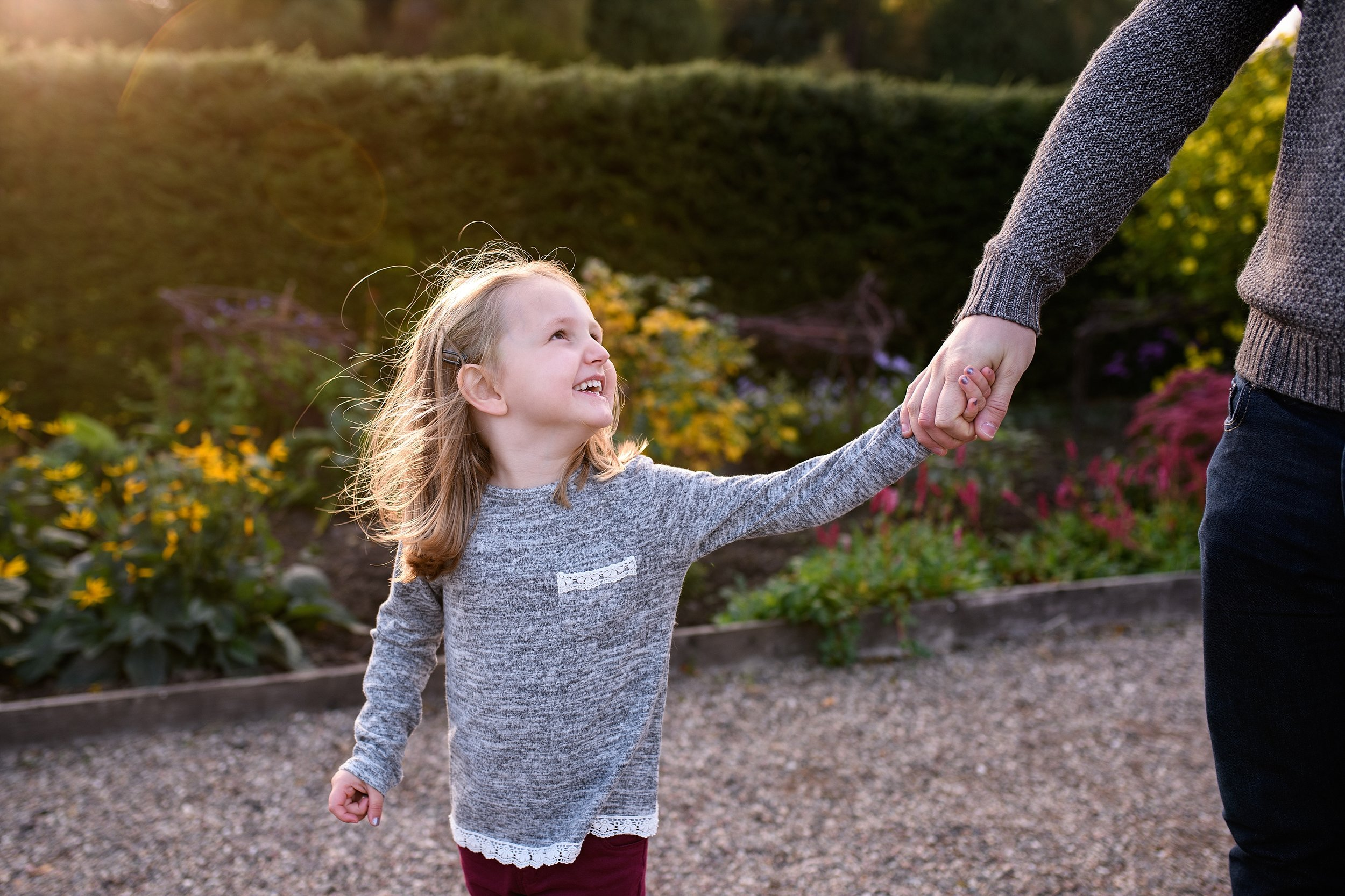 Walking with dad in the Walled Garden, Glamis Castle