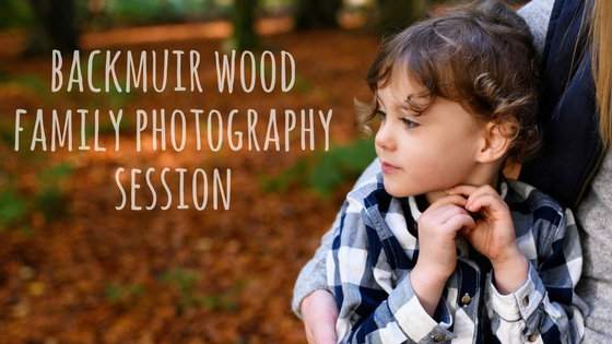 Backmuir Wood Dundee family photo shoot