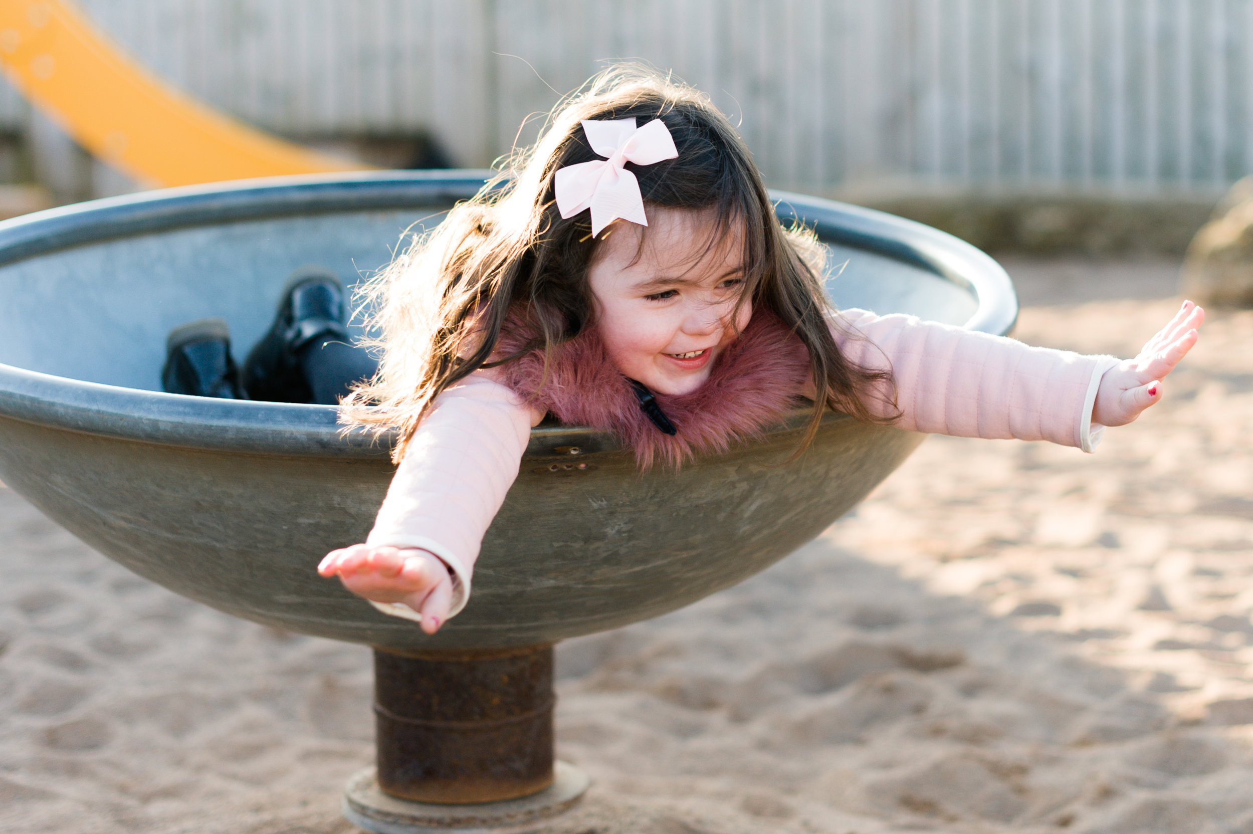 Carnoustie beach park playing spring