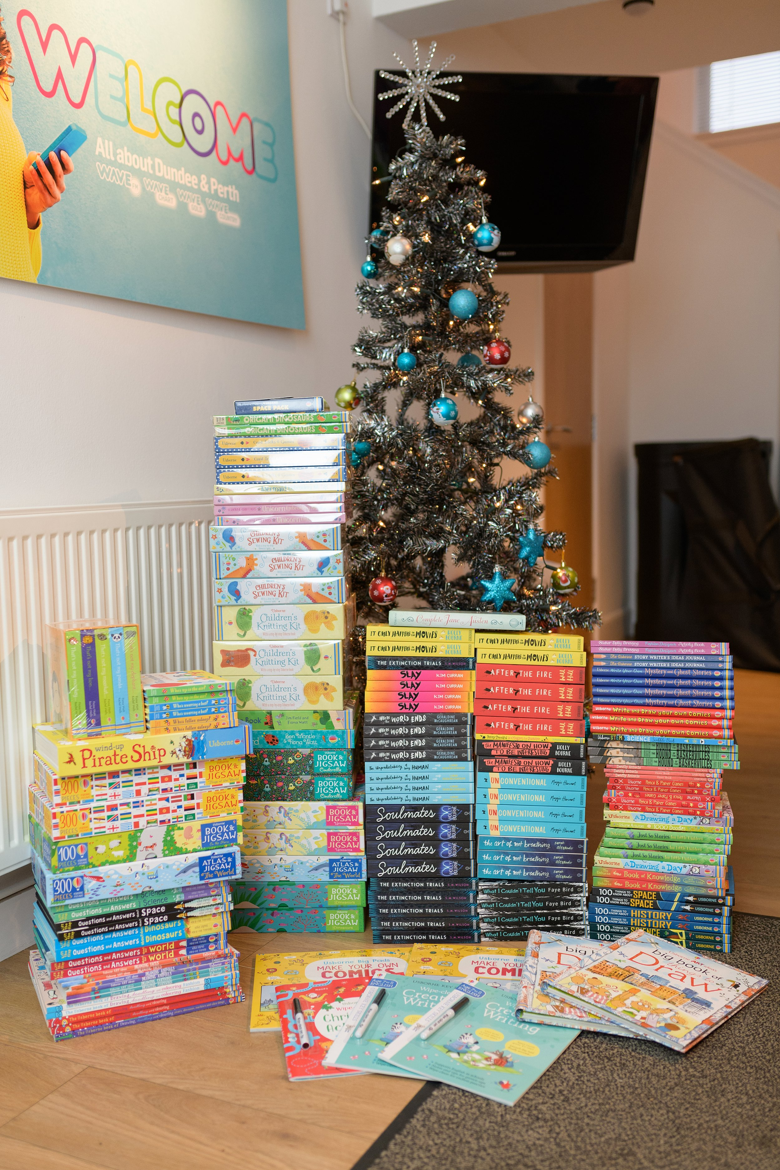 £1300 worth of books delivered, Fiona hopes to increase this amount each year.