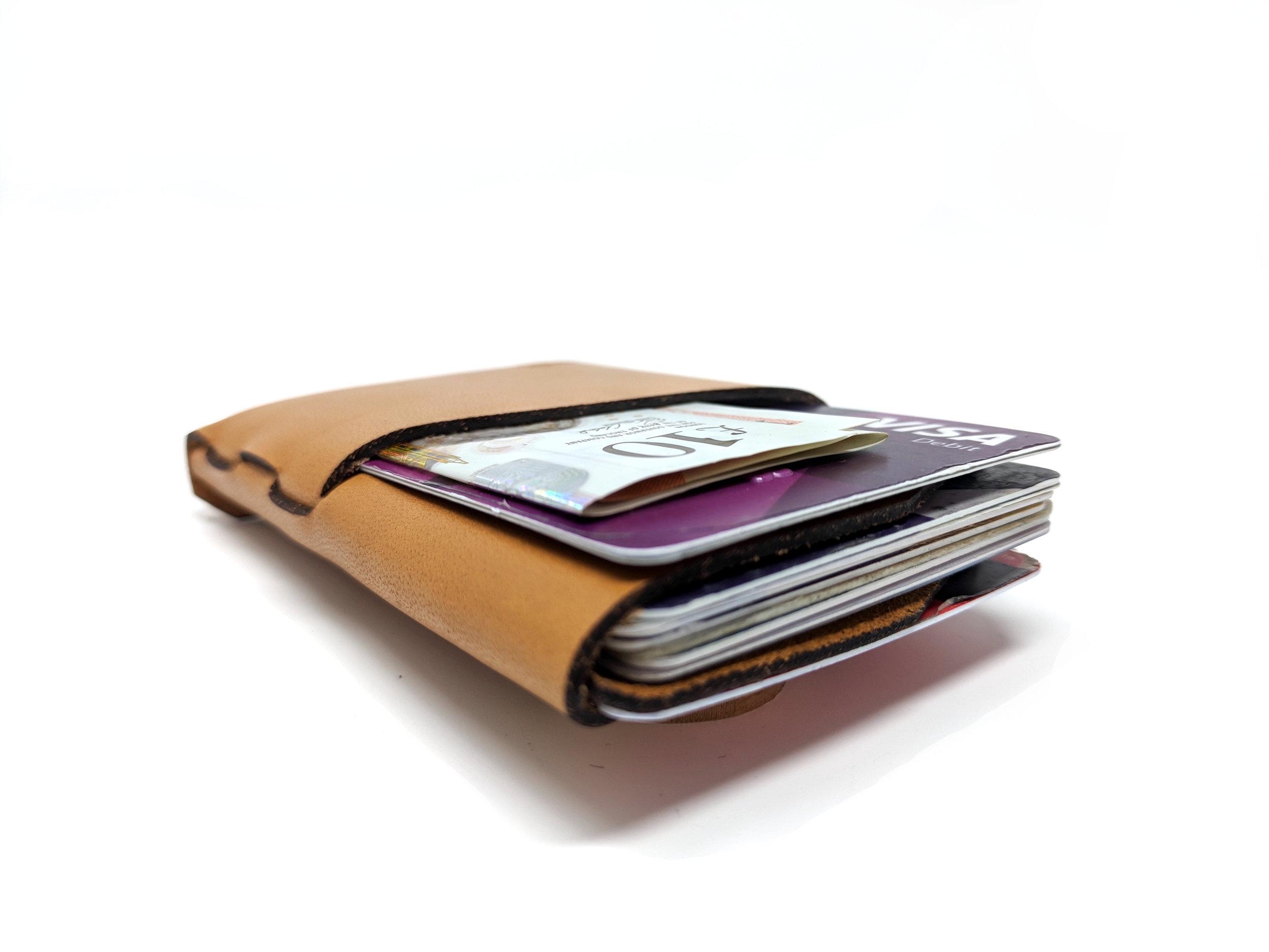 Slim front pocket wallet full of cards
