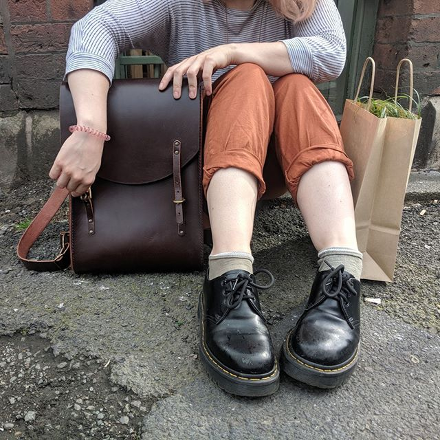 #unisex handmade full grain leather bags, made here in #Manchester.
