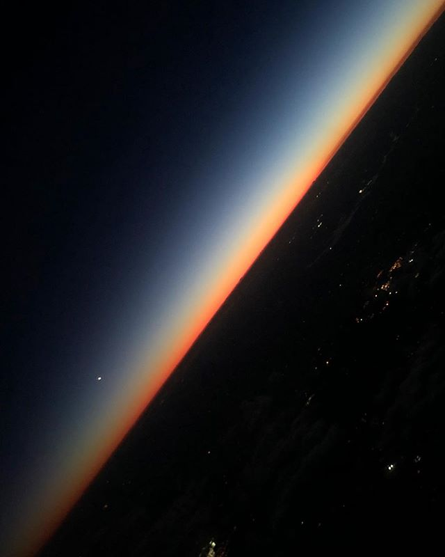 Peaceful 🌅 in flight.