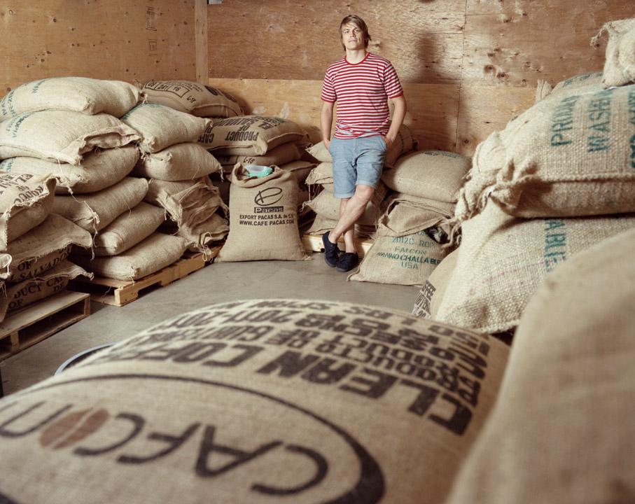 Willie amongst the beans. Photo:  Neil DaCosta