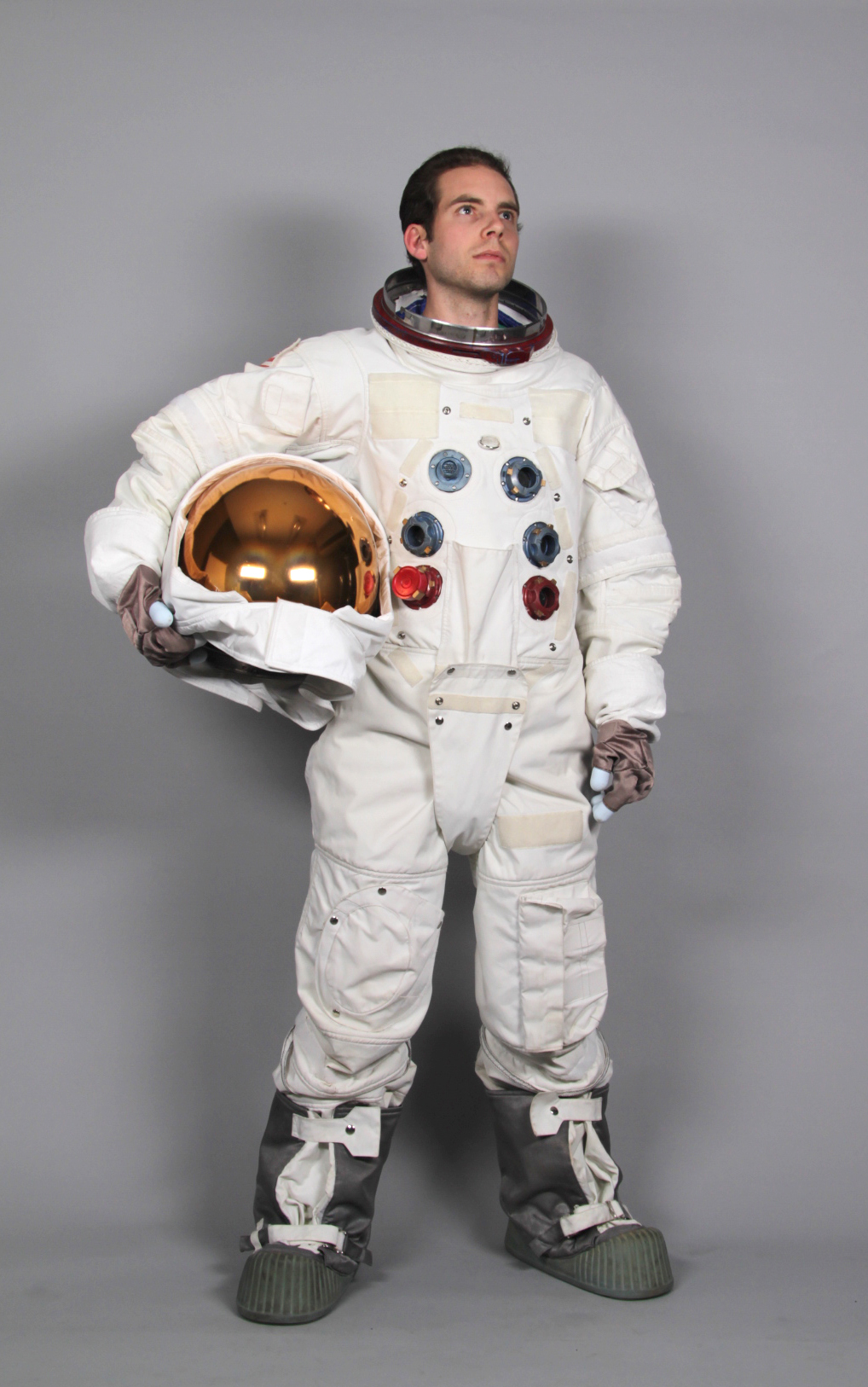 Because this is what you do when you are given an accurate Apollo replica spacesuit for a week.