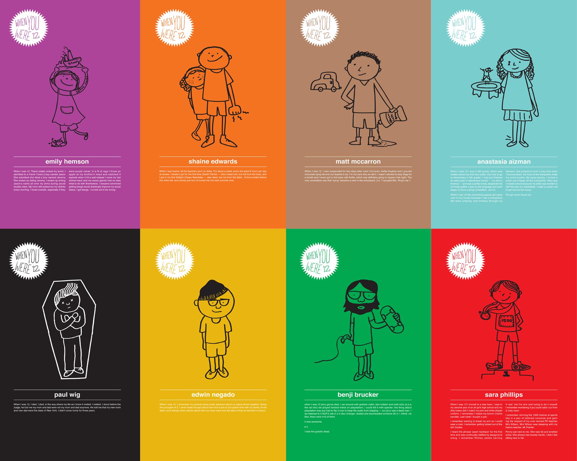 WK12's stories from when we were 12. Illustrations: Yi-Fan Lu and Alexander Barrett