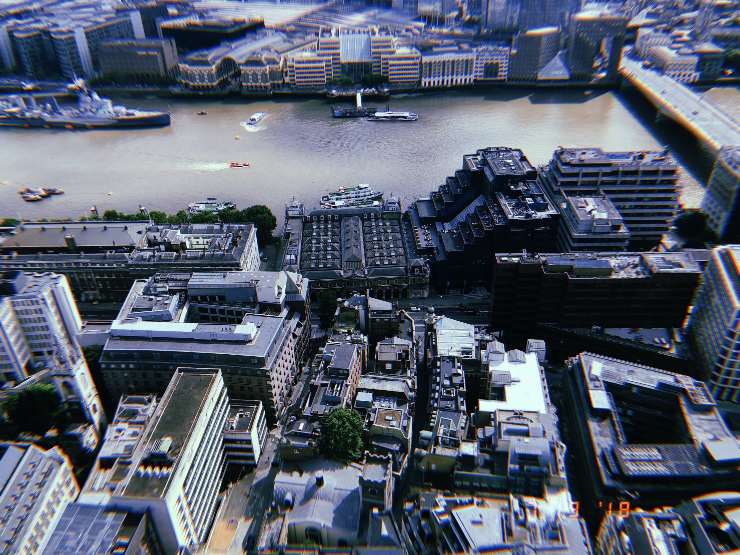 River Thames from 35 Stories Up
