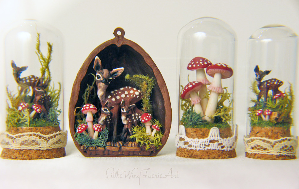 tiny deer and mushrooms1.JPG