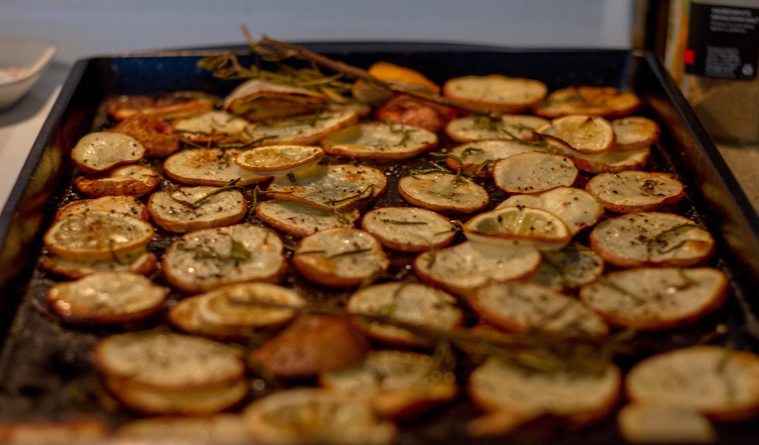 Post-bake. Nice and crispy!