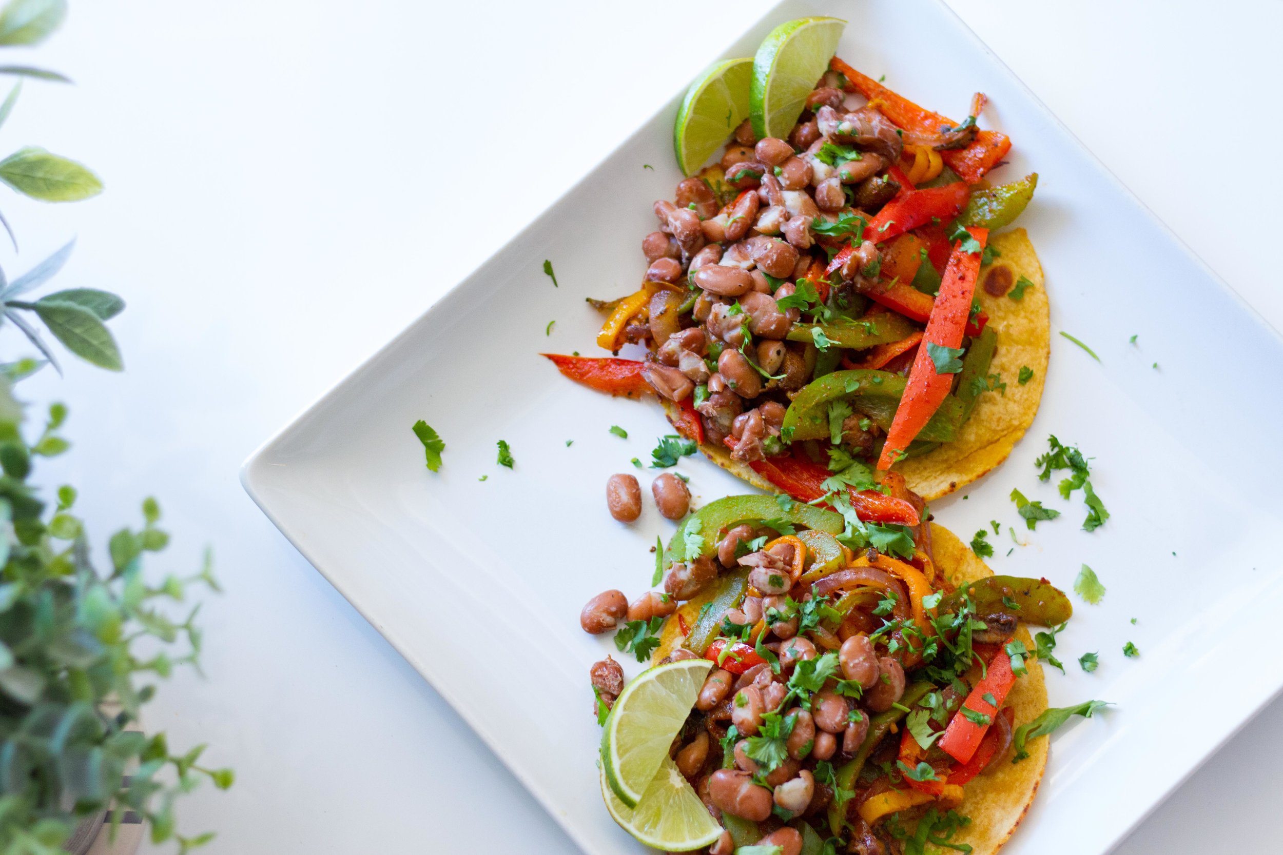Pinto Brean Fajita Tacos