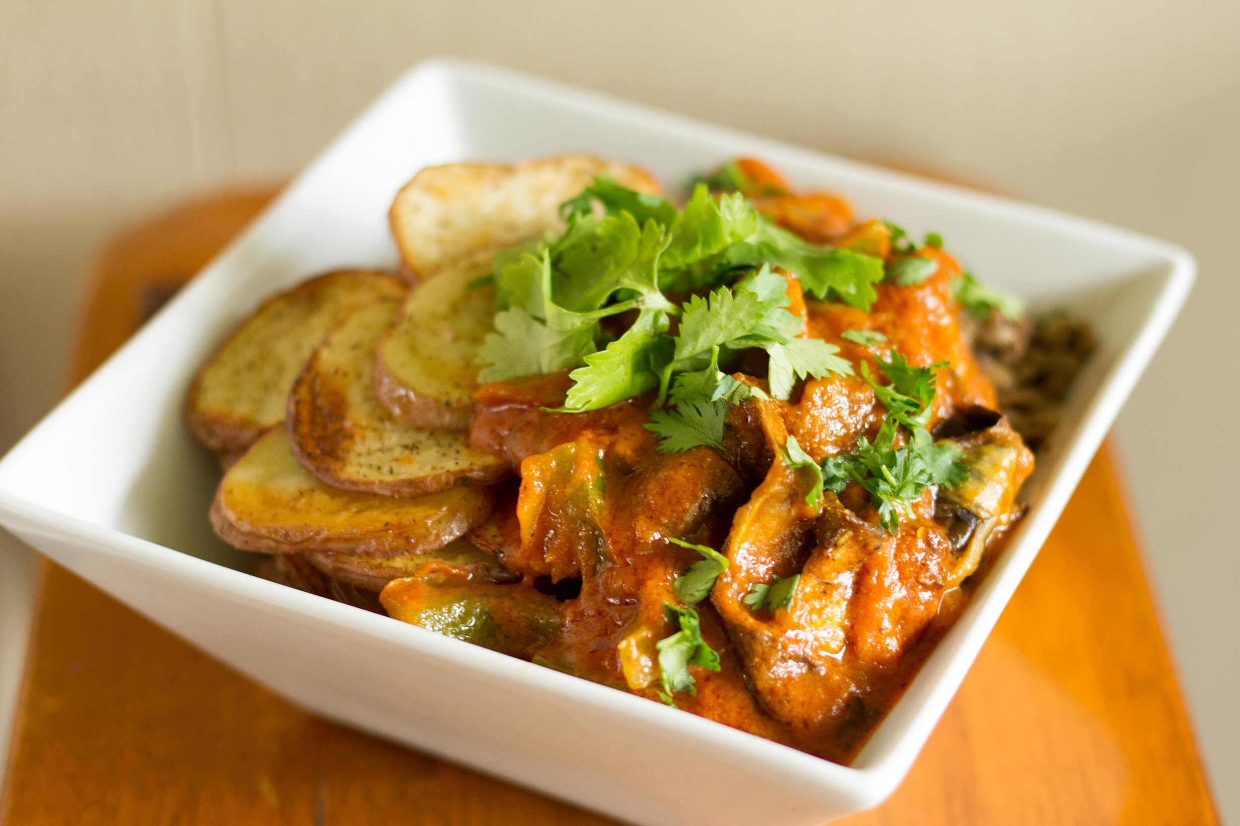 Curry in a Hurry with Roasted Potatoes