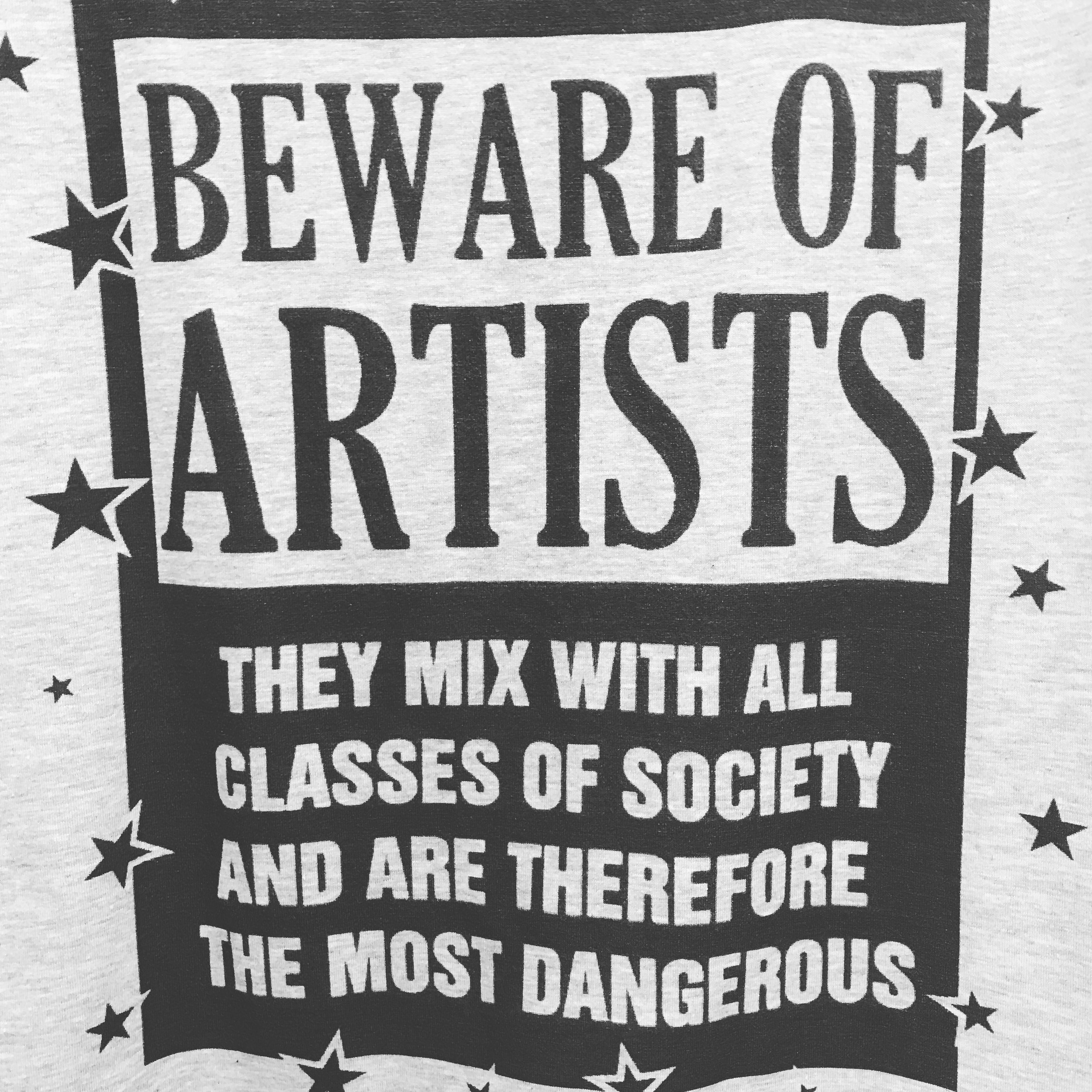 Spotted on a t-shirt at the Artists Cooperative in Jerome, AZ.
