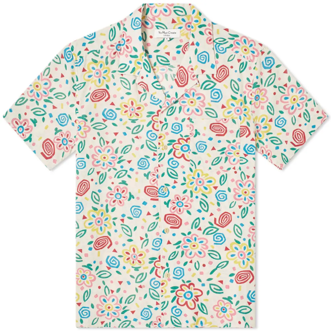 YMC   FLORAL VACATION SHIRT
