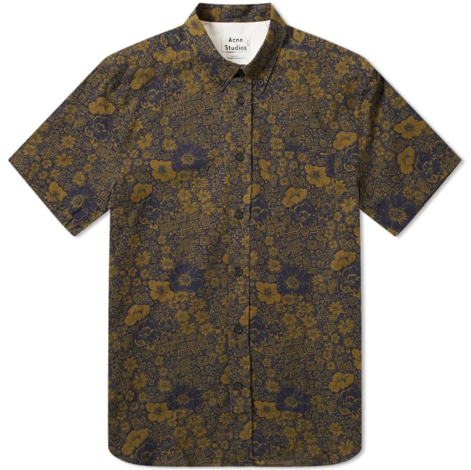 ACNE STUDIOS   ISHERWOOD FLORAL SHORT SLEEVE SHIRT