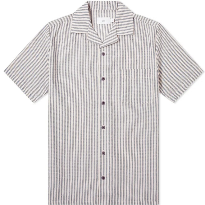 ONIA   SEERSUCKER STRIPE VACATION SHIRT