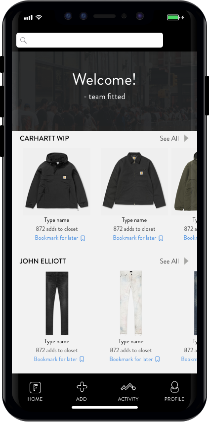 Discover & Search - Discover something new or search for garments you are interested in learning more about.