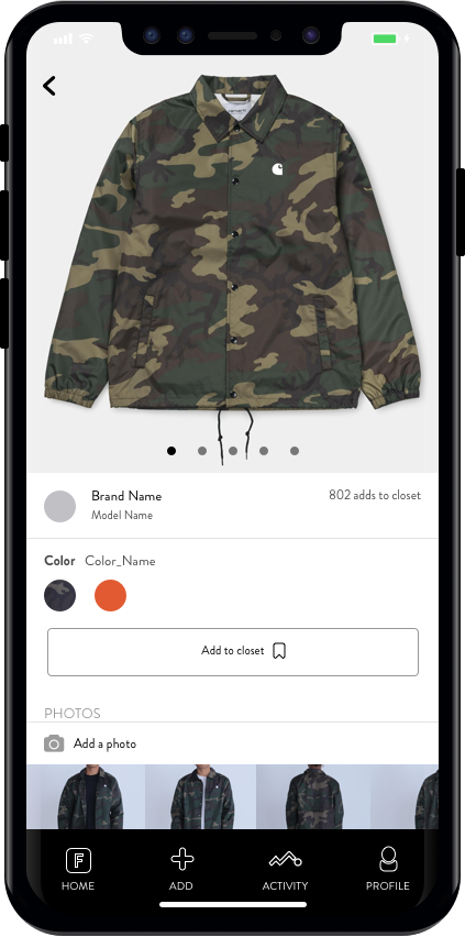 Research - Drill down into a garment page to answer your biggest questions around fit and sizing. From community fit photos (i.e. OOTD) to reviews, you will be able to answer your toughest questions.