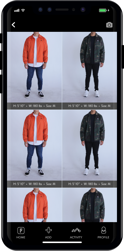 Find Fits  - Discover sizing and fit details from community for specific garments you are exploring.