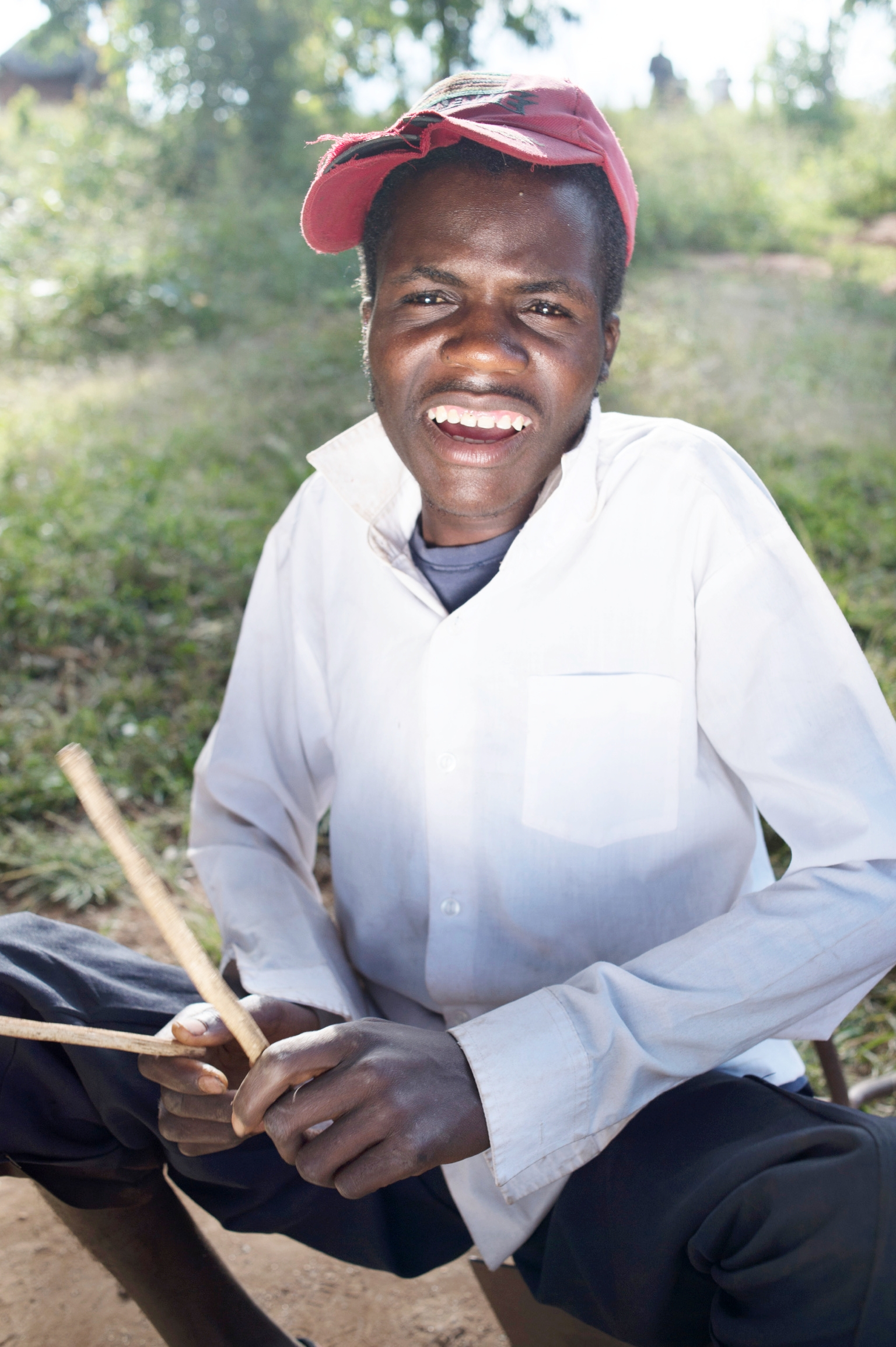 Edwin is disabled and lives with his disabled mother - he cannot walk, but has a talent for playing the drums; the centre visits Edwin to support him with psycho-social skills, social interactions and feeding support