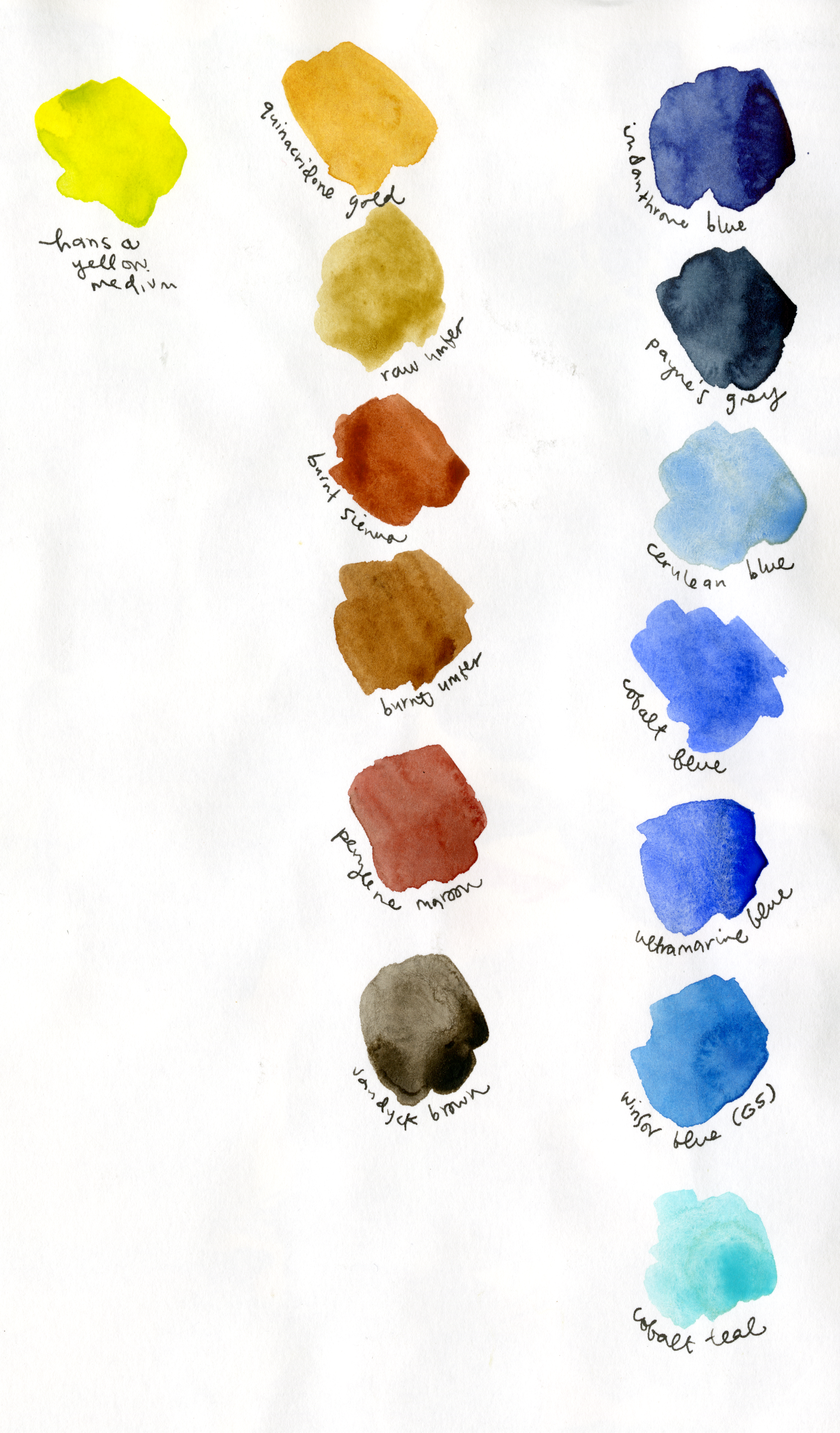 This was my ACTUAL palette for this book. Since it's set in the forest there are looooots of greens, which means lots of blues and yellows. Not much red at all.