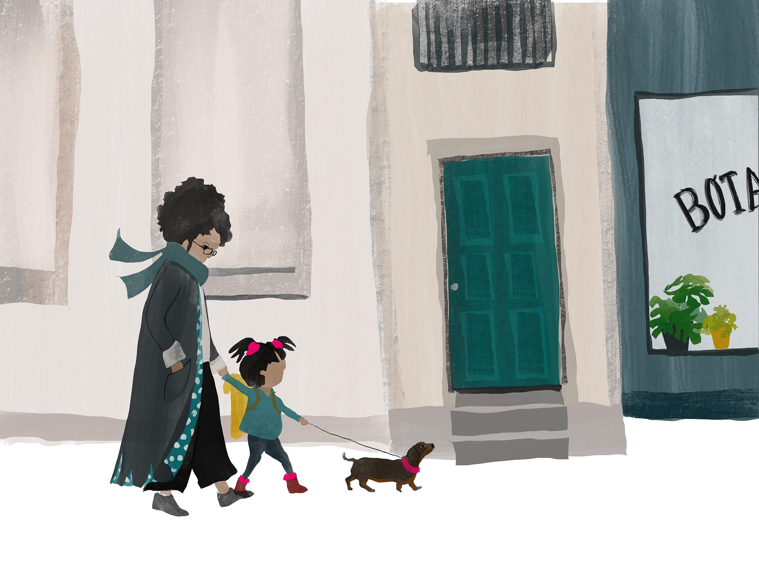 girl mum and sausage dog - small.jpg