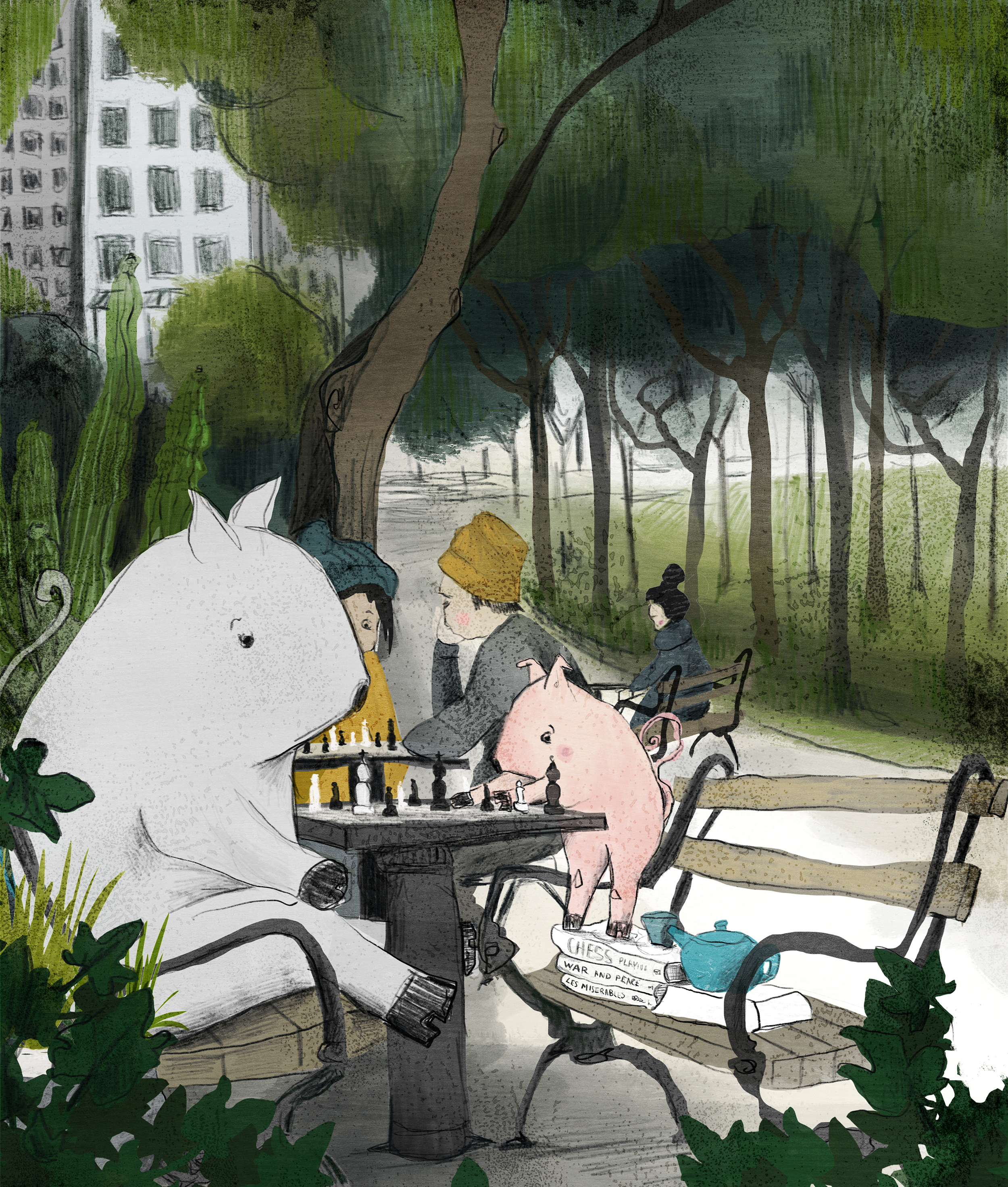 chess in the park - giclee print.jpg