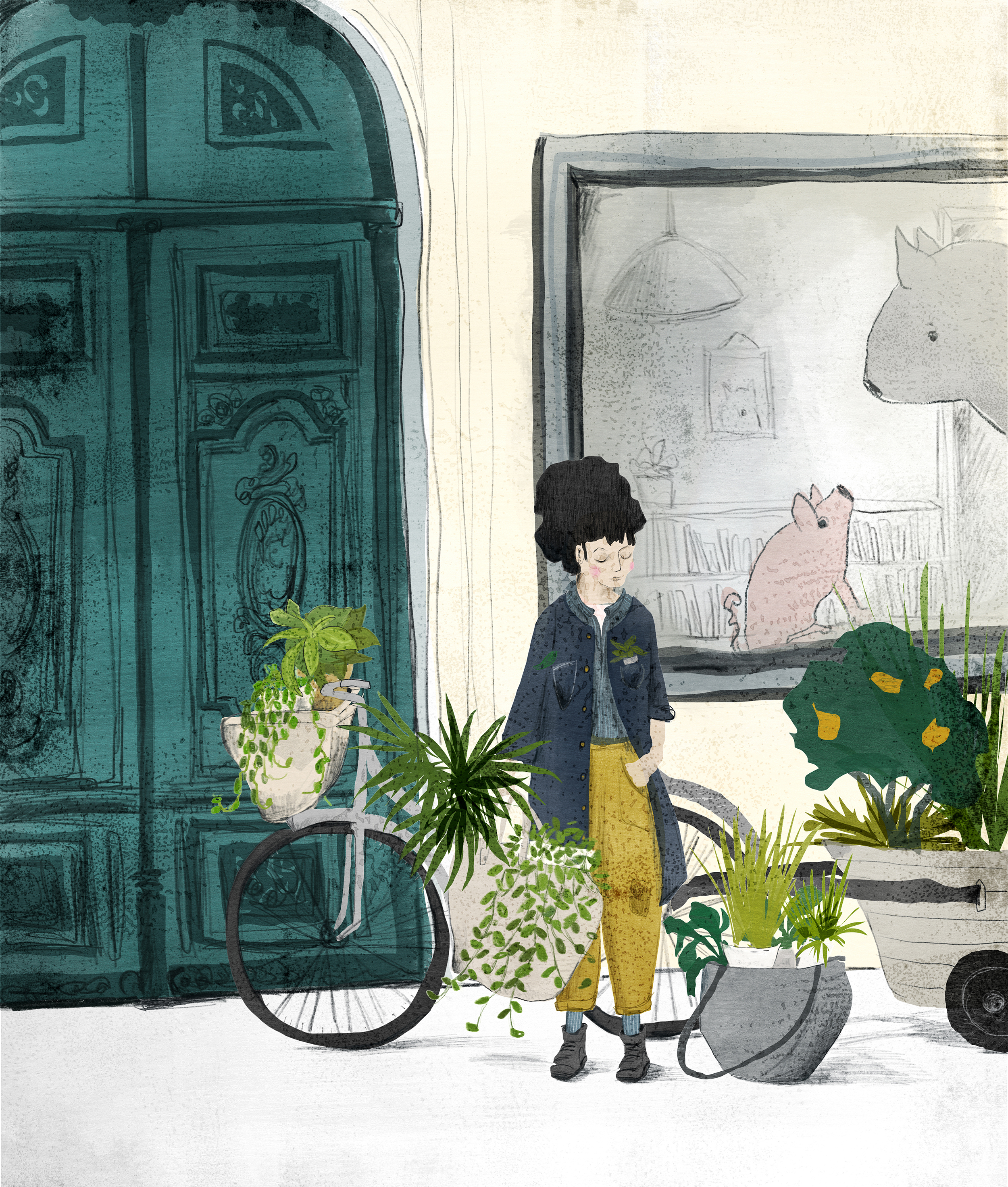 Shop on holidays - Thanks so much for visiting my shop. I'm off on a little adventure - drawing and working and a little holidaying in the UK until October 10. My shop will open again sometime then… stay tuned! Sign up below to be notified when I reopen.