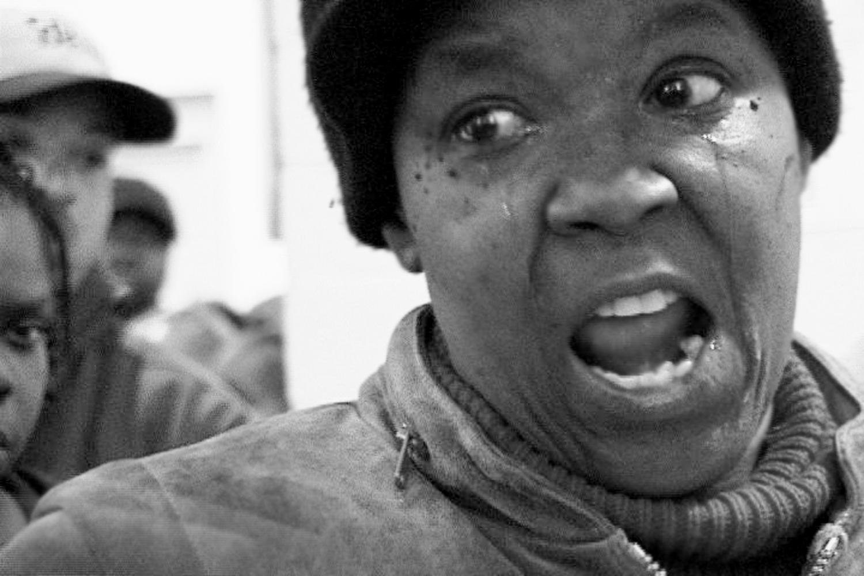 A voter sheds tears of frustration.