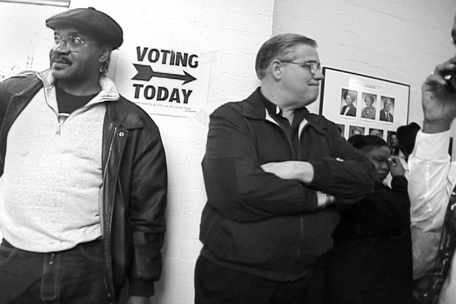 Tensions build as voters wait in line.