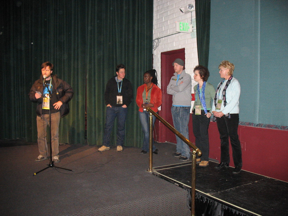 Programmer Mike Plante introducing 'Shorts II Program' filmmakers