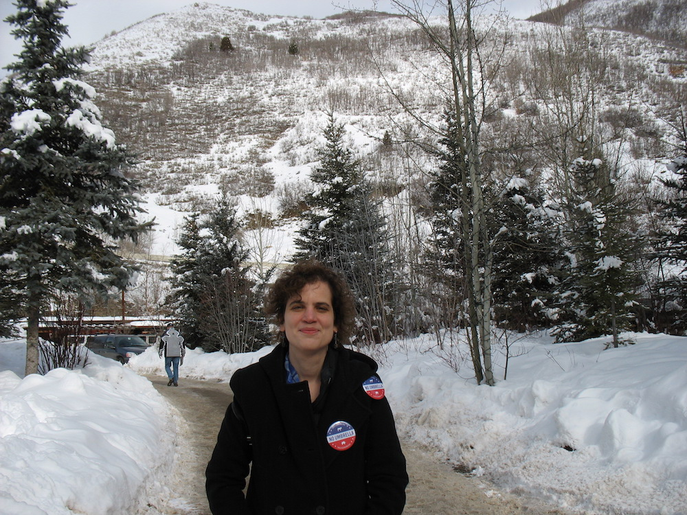 Outside Redford's Sundance Lodge - site of 'The Director's Brunch'