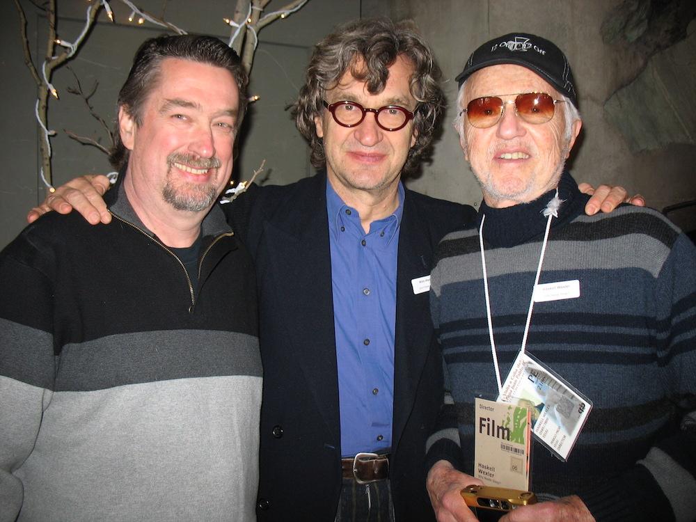 Festival director Geoffrey Gilmore, Wim Wenders and Haskell Wexler