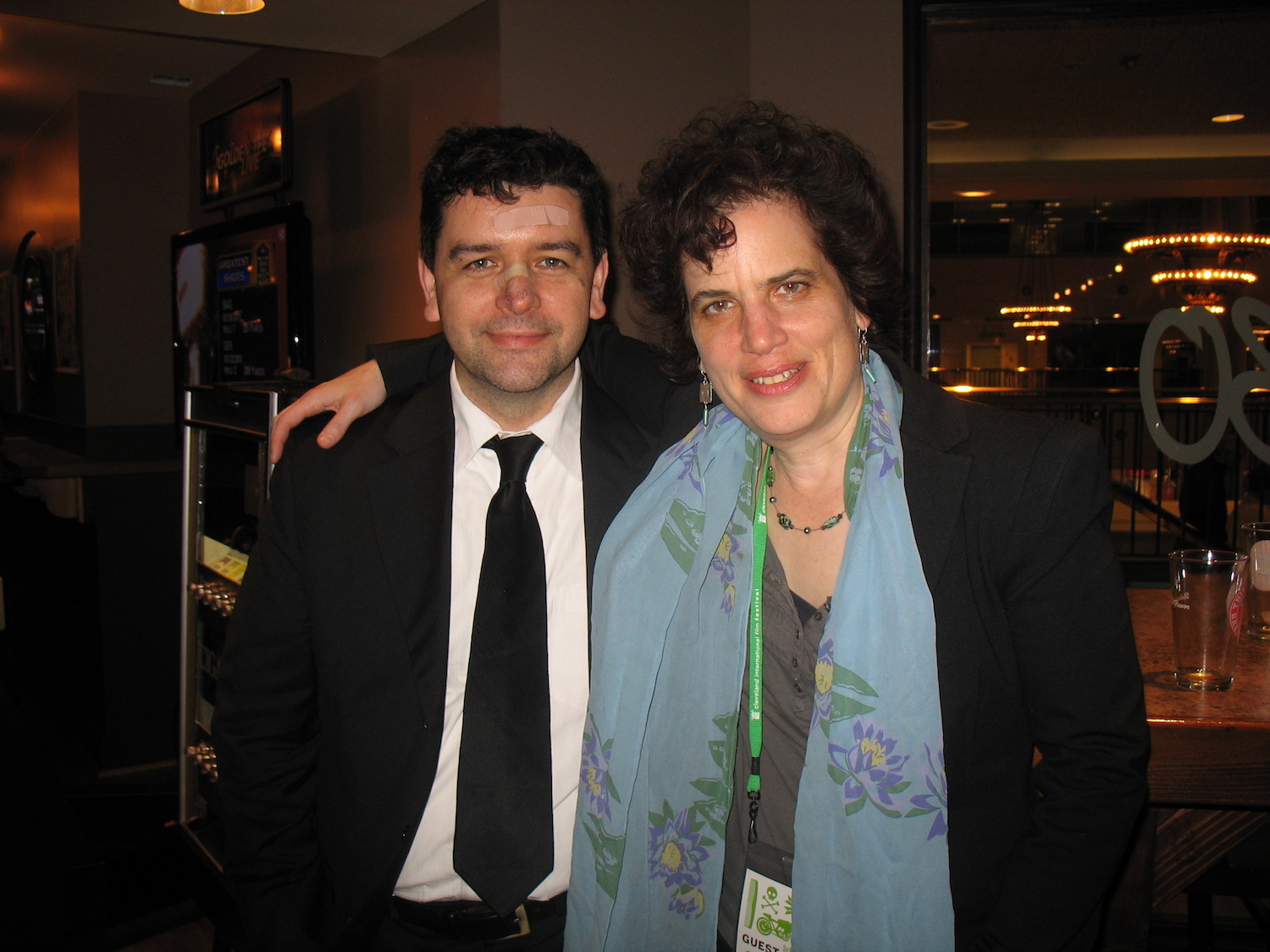 Me with editor Paul Docherty