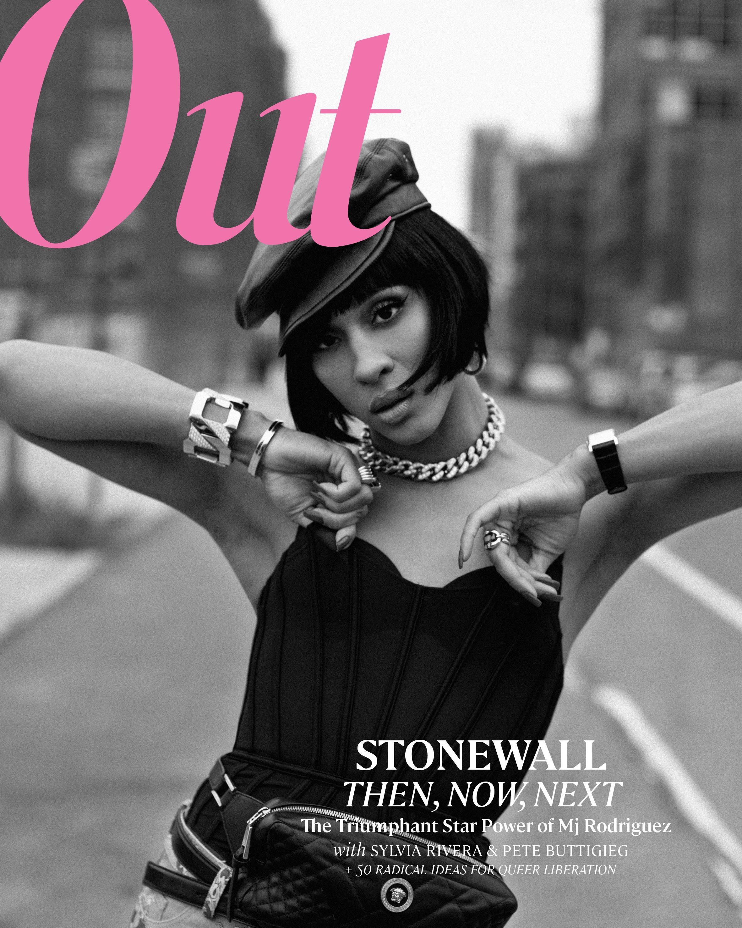 MJ Rodriguez for the cover of Out Magazine.