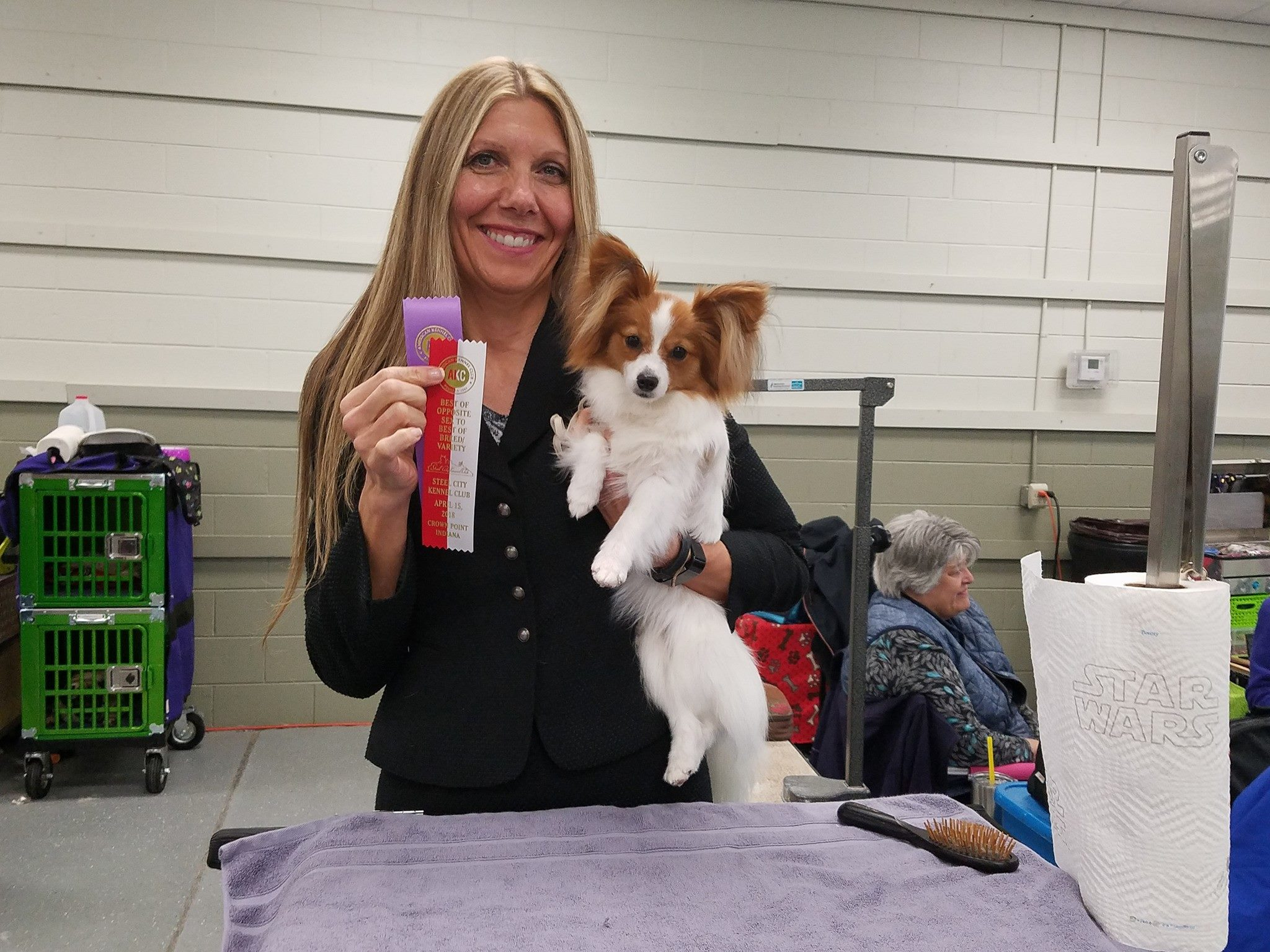 Star got Best Of Opposite Sex at the Steel City Kennel Club Dog Show (4/15/18), thank you Normal Smith for handling her.