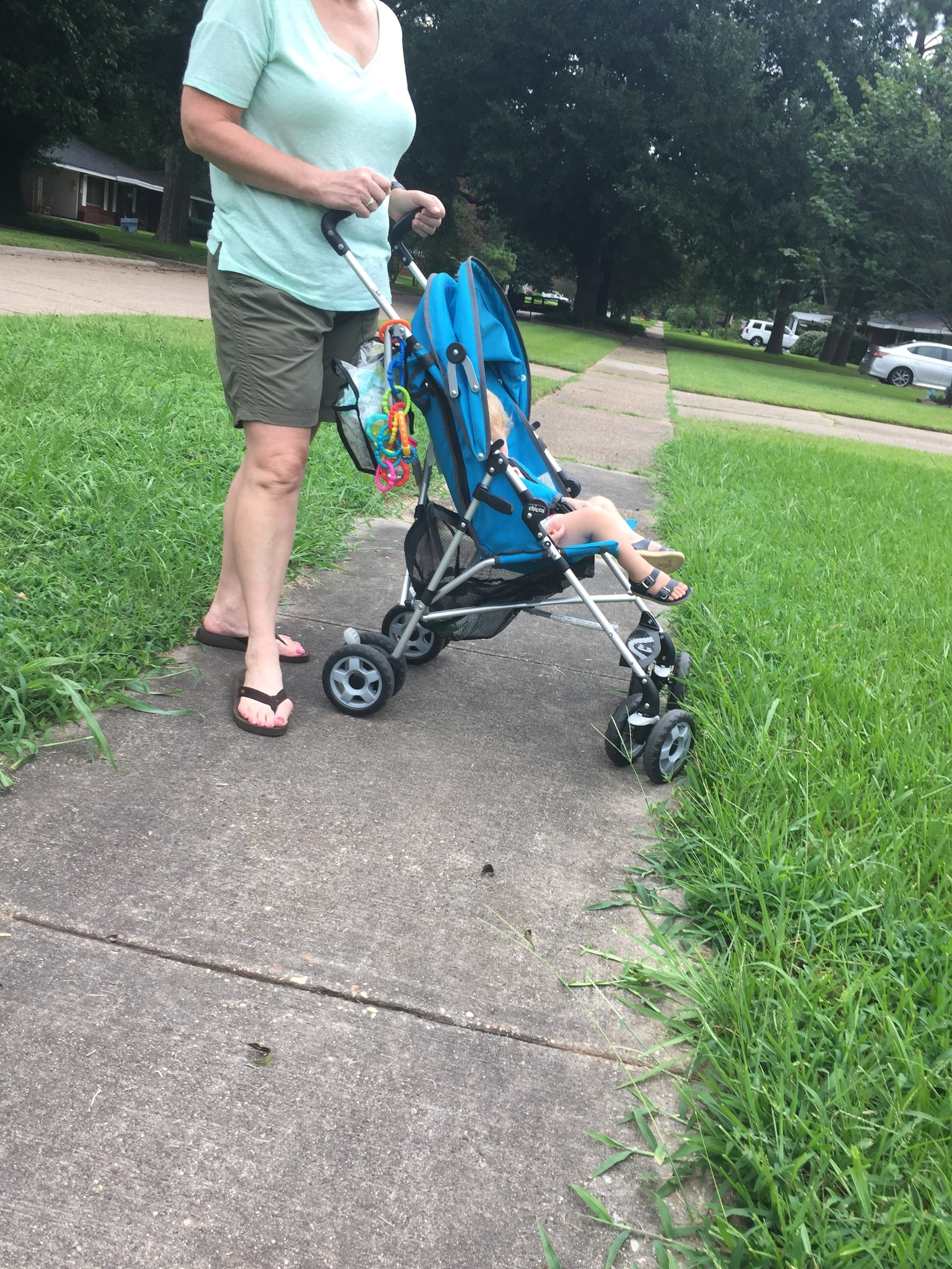 To his credit, he did get the entire stroller. :-)