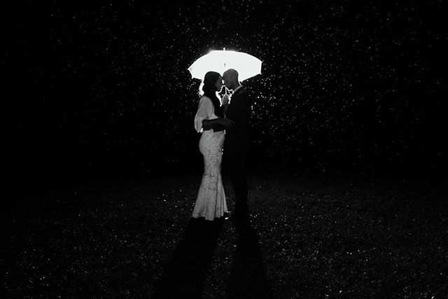 Last night's weather situation modeled by beautiful newlyweds Willa + Mike .. . #wedding #weddinginspiration #newlyweds #nzphotogs #nzweddingphotographer #christchurchphotographer #rainywedding #love #lookslikefilm #engaged