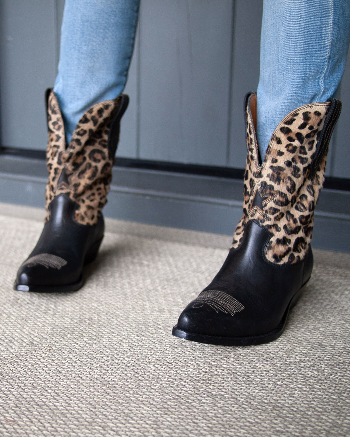 "Golden Goose ""Wish star"" Boot - Black Leopard, $1200   To purchase call 425-453-7868, or visit us in store at La Ree Boutique."
