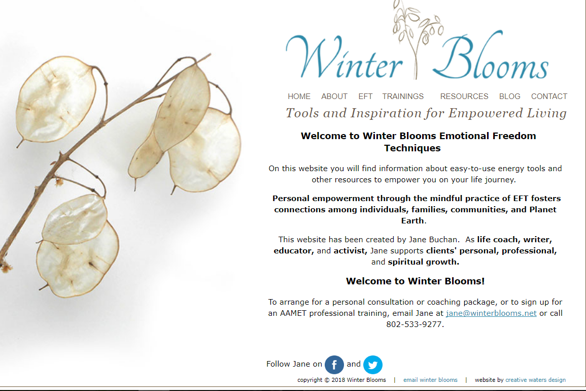 Client: Winter Blooms | Project scope: Support - site updates with  Wordpress,  SEO.