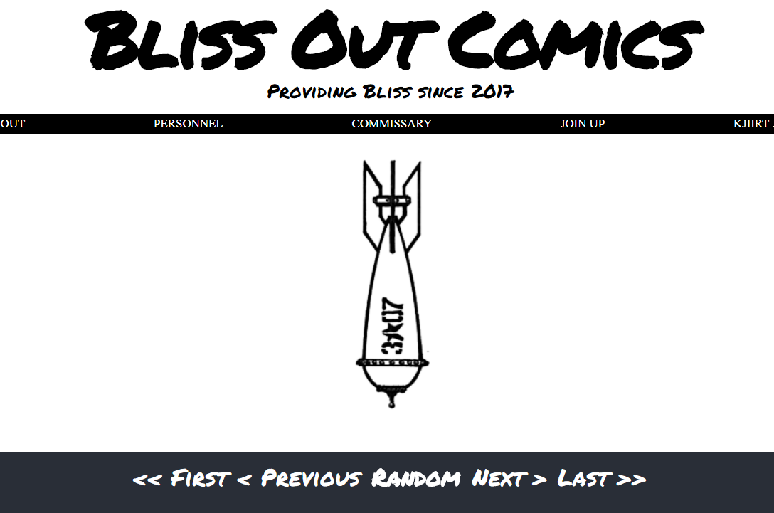 Client: Bliss Out Comics | Project scope: Comprehensive - design with  Wordpress,  SEO, ongoing site maintenance.
