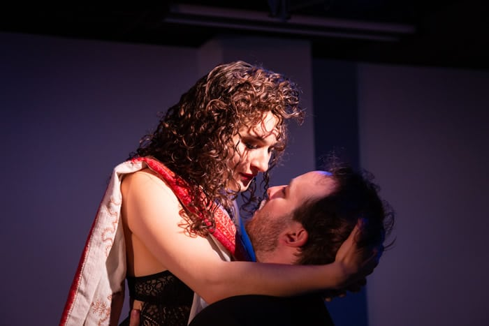 Actors Anna DiGiovanni (Vanda) and Scott Ward Abernethy (Thomas), Photo by Ryan Maxwell Photography