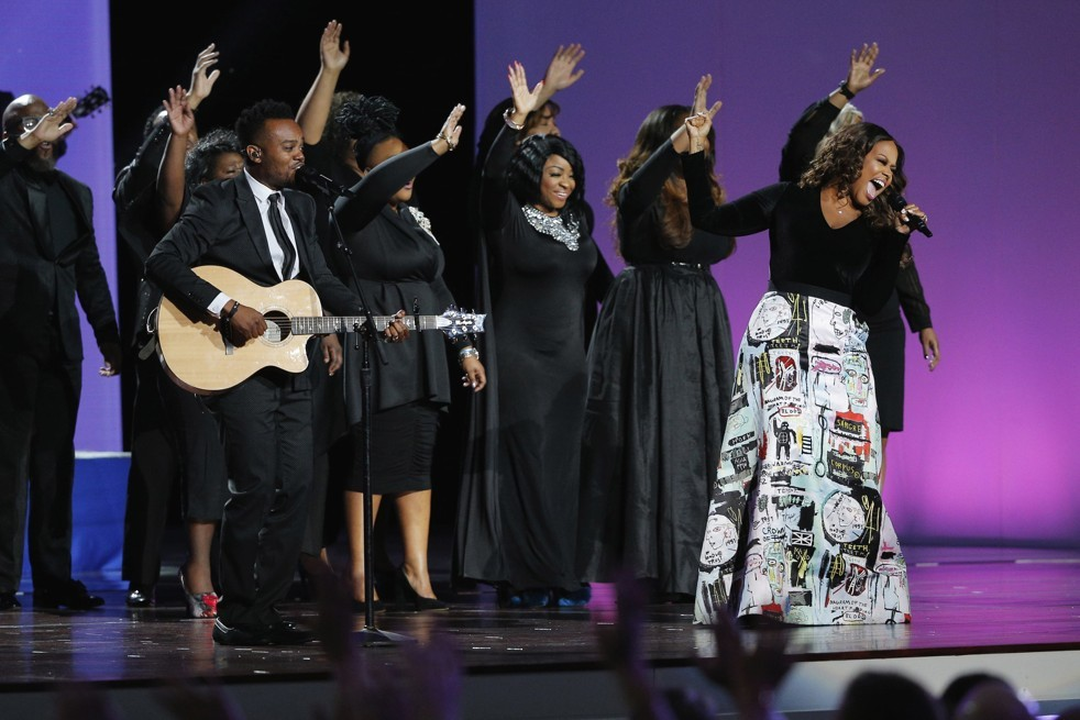 Chrisette Michele sings at Trump's inaugural concert in January 2017.