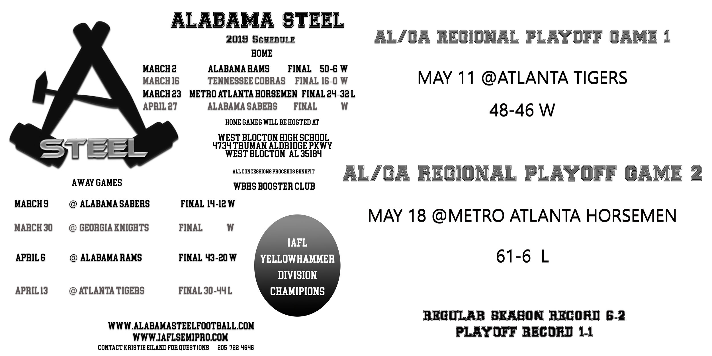 ALABAMA STEEL 2019 SCHEDULE  with post season record.jpg