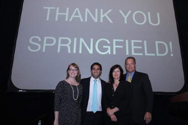Ventry's team celebrates MGM Springfield's historic citywide referendum vote victory.