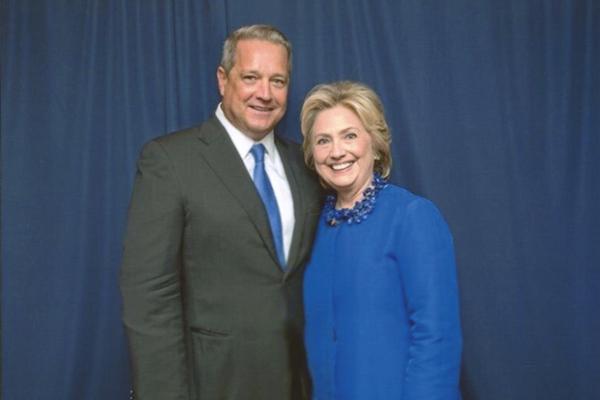 Dennis Murphy with Hillary Clinton.